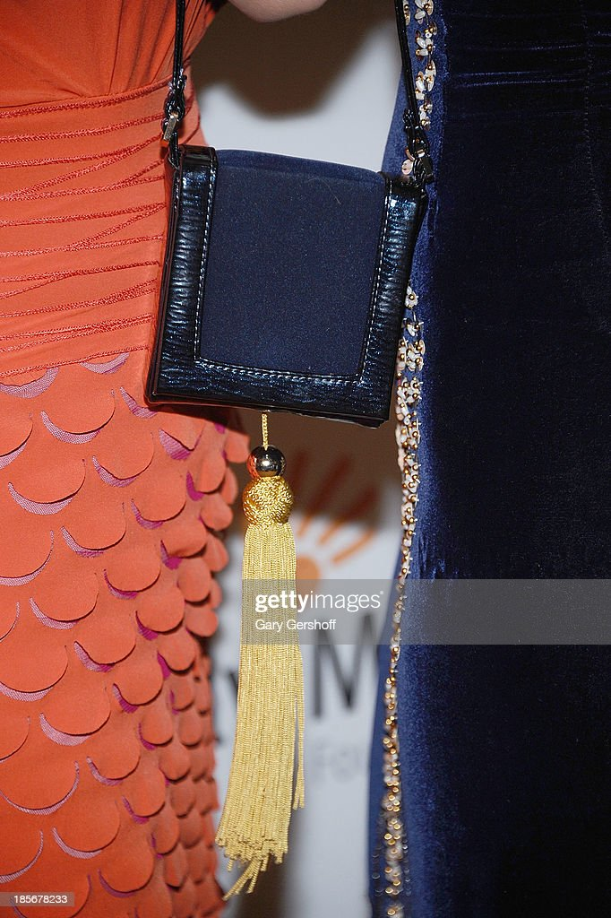 Actress <a gi-track='captionPersonalityLinkClicked' href=/galleries/search?phrase=AnnaLynne+McCord&family=editorial&specificpeople=4070122 ng-click='$event.stopPropagation()'>AnnaLynne McCord</a> (purse detail) attends the Somaly Mam Foundation Gala at Gotham Hall on October 23, 2013 in New York City.