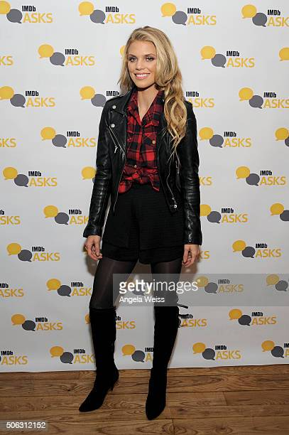 Actress AnnaLynne McCord in the IMDb Studio In Park City for 'IMDb Asks' Day One Park City on January 22 2016 in Park City Utah