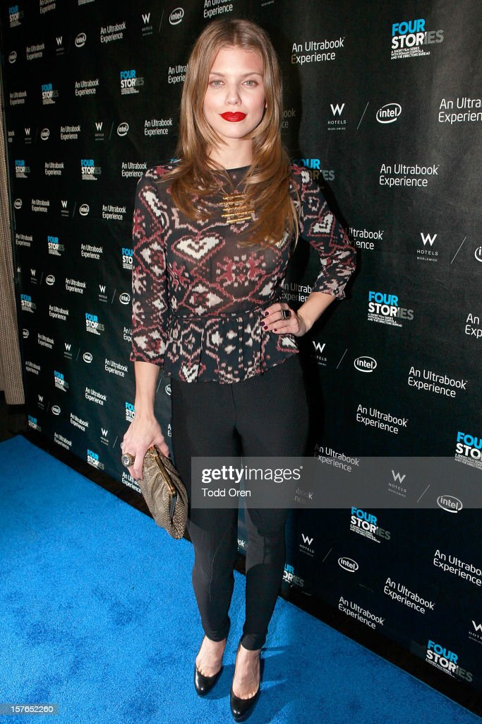 Actress AnnaLynne McCord poses at the Intel and W Hotels present Four Stories Film Series at W Hotel Los Angeles - Westwood on December 4, 2012 in Westwood, California.