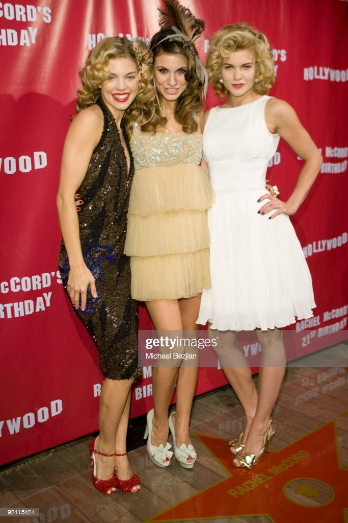 Actress AnnaLynne McCord, Rachel McCord and Angel McCord attend Rachel McCord's 21st Birthday Party at SkyBar on October 27, 2009 in West Hollywood, California.