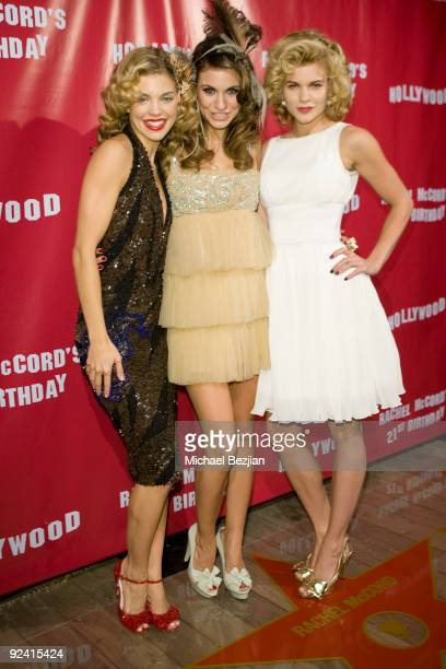 Actress AnnaLynne McCord Rachel McCord and Angel McCord attend Rachel McCord's 21st Birthday Party at SkyBar on October 27 2009 in West Hollywood...