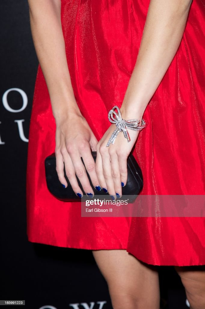 Actress AnnaLynne McCord shows the latest in jewelry fashions by Van Cleef & Arpels at the New Exhibit Opening Night Reception at The Bowers Museum on October 26, 2013 in Santa Ana, California.