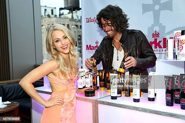 Actress AnnaSophia Robb and hairdresser Mark Hill attend the Mark Hill Salon Professional One Year Anniversary Celebration on July 29 2014 in New...