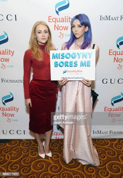 Actress AnnaSophia Robb and Scarlett Curtis attend as Equality Now celebrates 25th Anniversary at 'Make Equality Reality' Gala at Gotham Hall on...