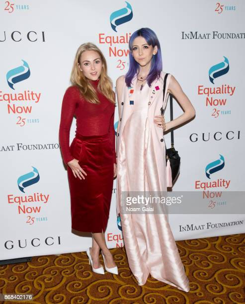Actress AnnaSophia Robb and Scarlett Curtis attend the 2017 Equality Now Gala at Gotham Hall on October 30 2017 in New York City