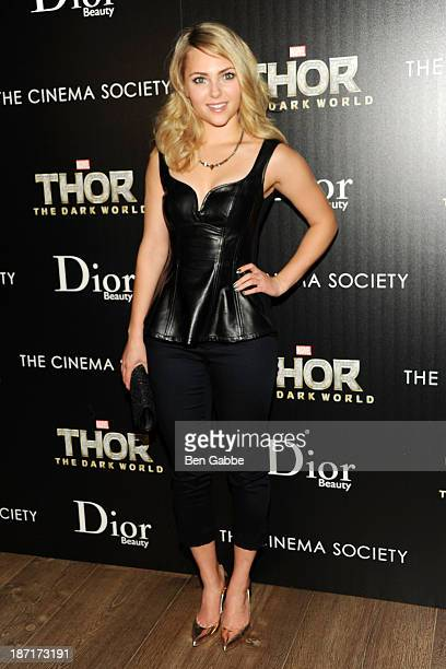 Actress AnnaSophia Robb attends a screening of 'Thor The Dark World hosted by The Cinema Society and Dior Beauty at 79 Crosby Street on November 6...