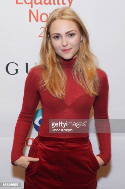 Actress AnnaSophia Robb attends as Equality Now celebrates 25th Anniversary at 'Make Equality Reality' Gala at Gotham Hall on October 30 2017 in New...