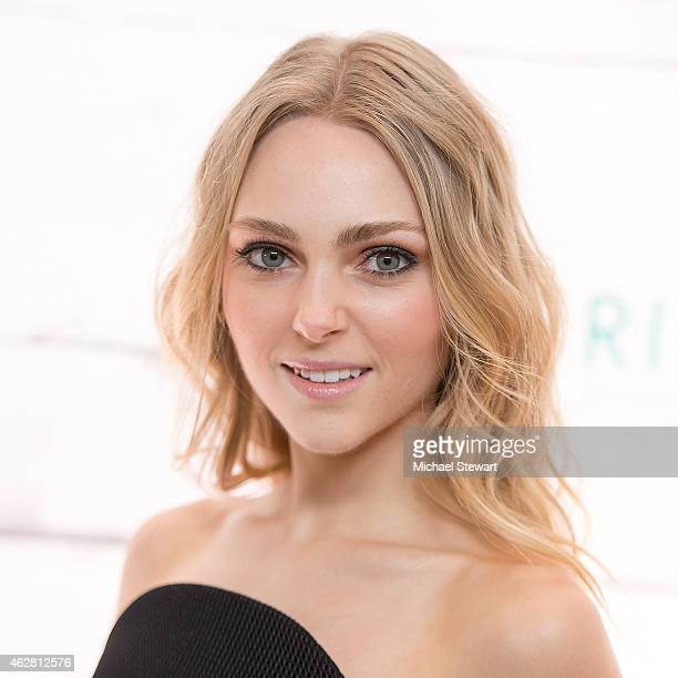 Actress AnnaSophia Robb attends John Frieda Hair Care Beach Blonde Collection Party at the Garage on February 5 2015 in New York City