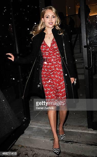 Actress AnnaSophia Robb attends the Diane Von Furstenberg show on February 9 2014 in New York City