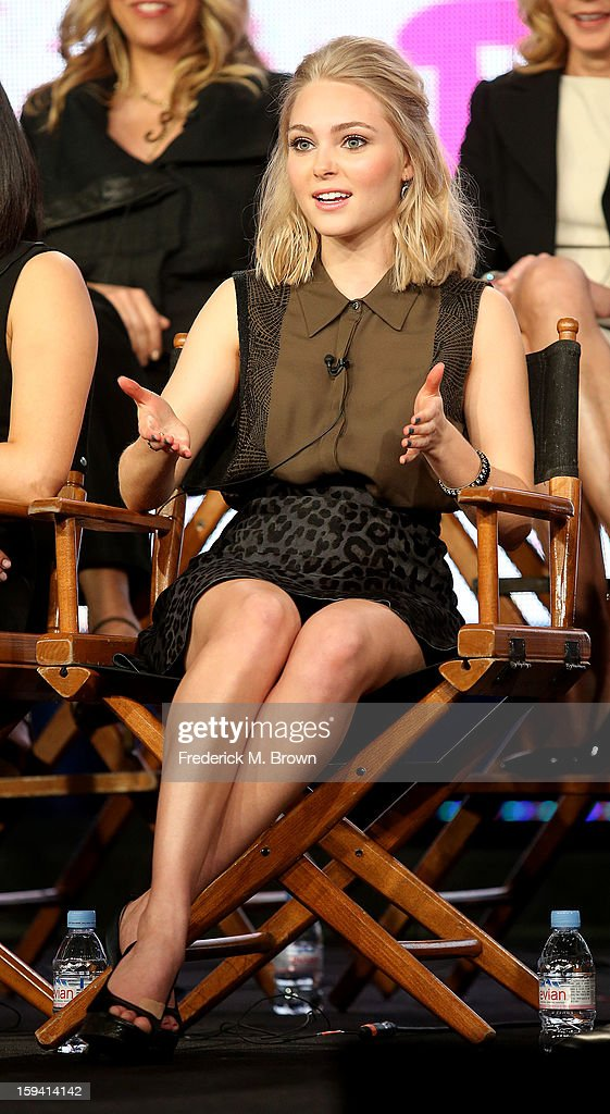 Actress AnnaSophia Robb of the television show 'The Carrie Diaries' speaks during the CW Network portion of the 2013 Winter Television Critics Association Press Tour at the Langham Huntington Hotel & Spa on January 13, 2013 in Pasadena, California.