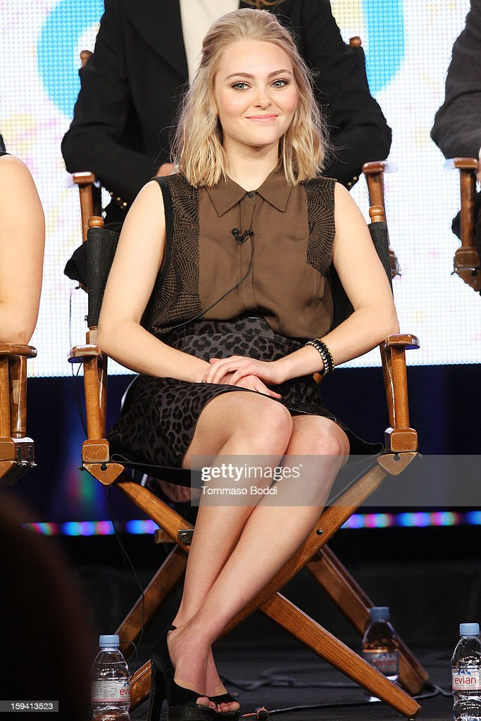 Actress AnnaSophia Robb of the TV show 'The Carrie Diaries' attends the 2013 TCA Winter Press Tour CW/CBS panel held at The Langham Huntington Hotel and Spa on January 13, 2013 in Pasadena, California.