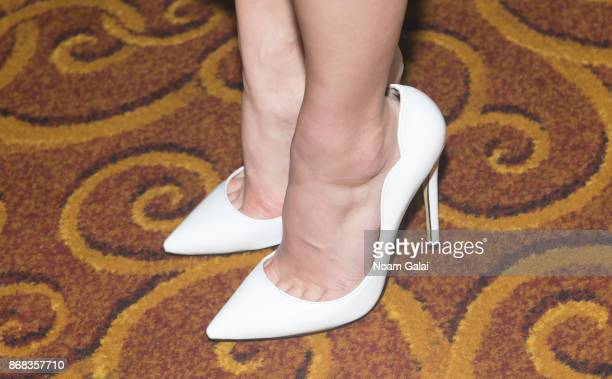 Actress AnnaSophia Robb shoe detail attends the 2017 Equality Now Gala at Gotham Hall on October 30 2017 in New York City