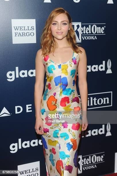 Actress AnnaSophia Robb wearing Jonathan Cohen attends as Ketel One Vodka sponsors the 28th Annual GLAAD Media Awards in New York at The Hilton...