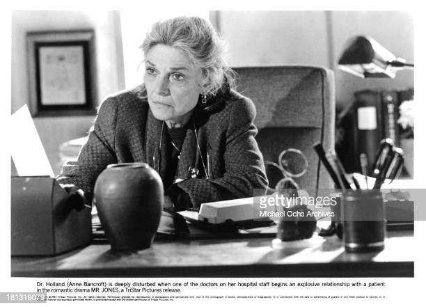 Actress Anne Bancroft on the set of the Tri Star movie ' MrJones' in 1993