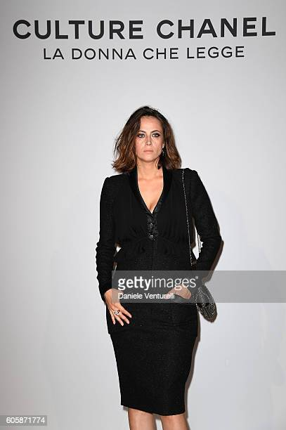 Actress Anne Berest attends 'Culture CHANEL' exhibition opening at The International Gallery of Modern Art Ca' Pesaro on September 15 2016 in Venice...