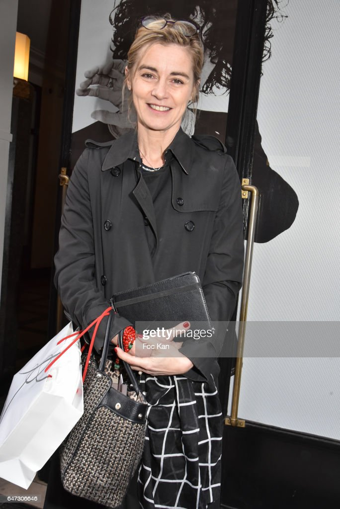 Actress Anne Consigny attends the Alexis Mabille show as part of the Paris Fashion Week Womenswear Fall/Winter 2017/2018 on March 2, 2017 in Paris, France.
