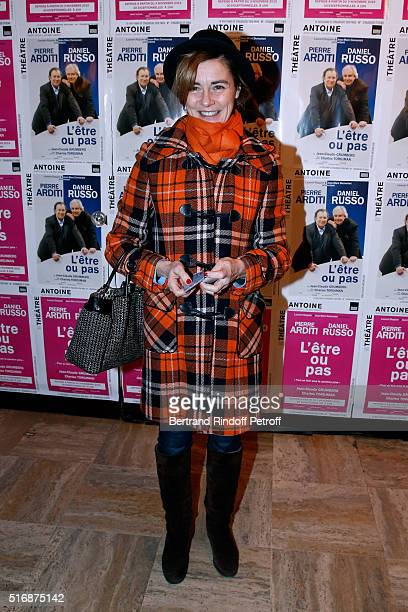 Actress Anne Consigny attends the 'L'Etre ou pas' Theater play at Theatre Antoine on March 21 2016 in Paris France
