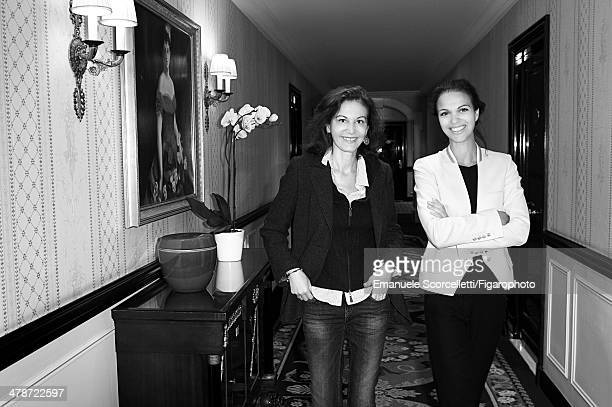 108881003 Actress Anne Fontaine and Isabelle Giordano executive director of Unifrance Films are photographed for Madame Figaro on January 20 2014 in...