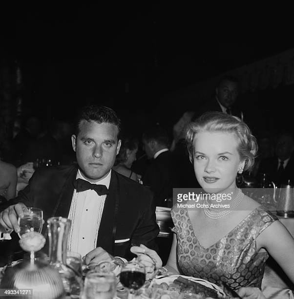 Actress Anne Francis and Buddy Bregman attend the reopening of Coconut Grove in Los Angeles California