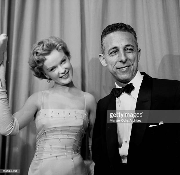 Actress Anne Francis and Herman Hoffman attend the Emmy Awards in Los Angeles California