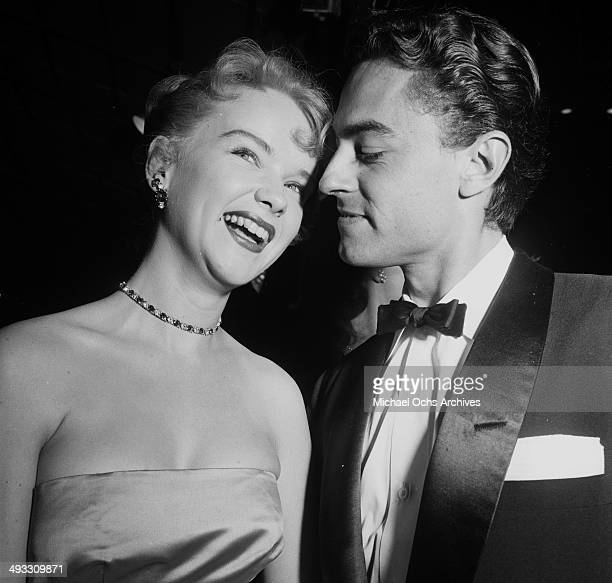 Actress Anne Francis and husband Bam Price attend the premier of ' The Robe' in Los Angeles California