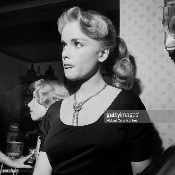Actress Anne Francis attend a party in Los Angeles California