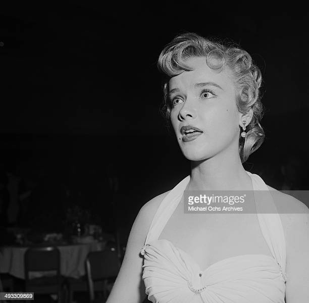 Actress Anne Francis attends the Makeup Artist Ball in Los Angeles California