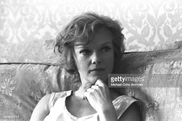 Actress Anne Francis poses for a portrait at home on July 30 1970 in Los Angeles California