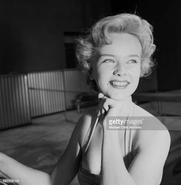 Actress Anne Francis poses in Los Angeles California