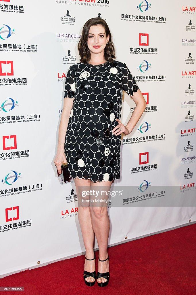 Anne Hathaway & Adam Shulman Host LA Art Show & Los Angeles Fine Art Show Opening Night Premiere Party