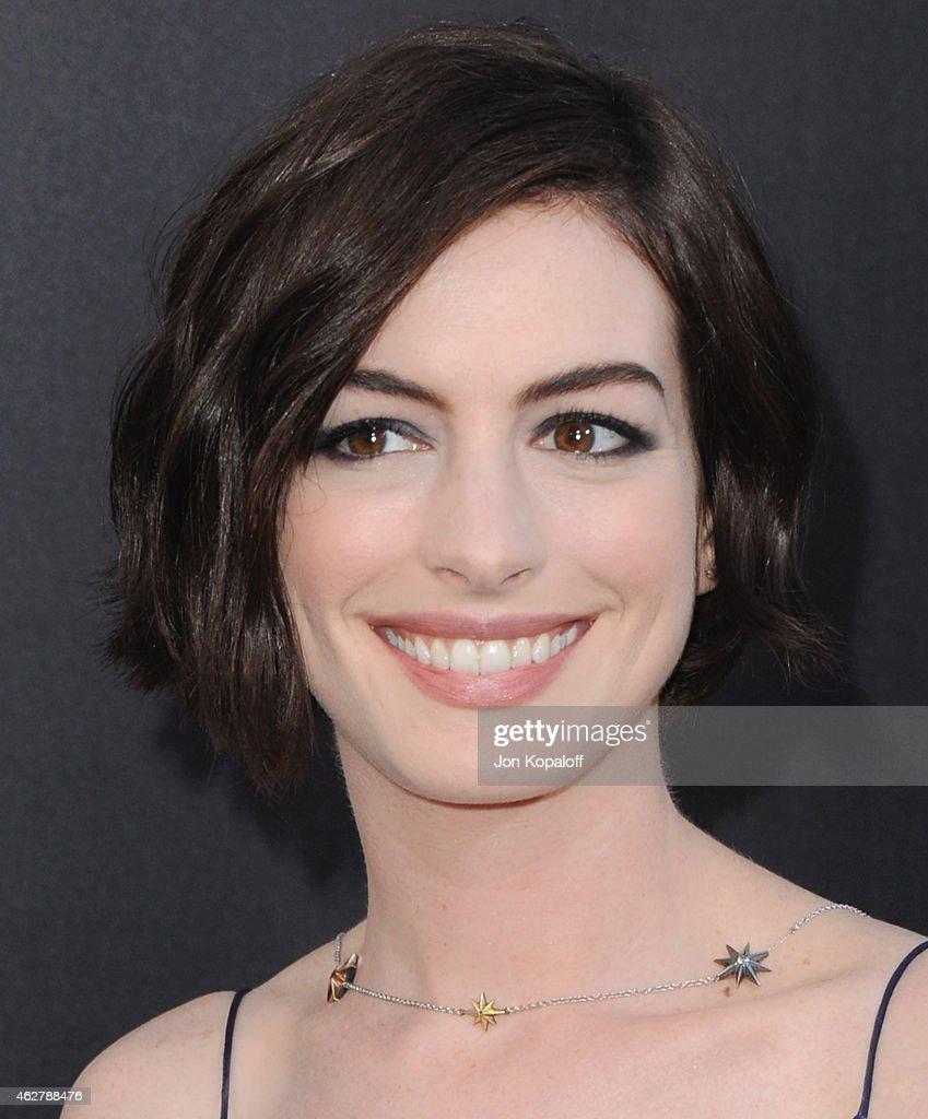 "Anne Hathaway At The Hustle Premiere In Hollywood: ""Interstellar"" - Los Angeles Premiere"