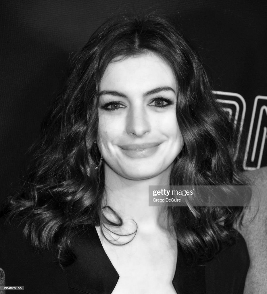 Actress Anne Hathaway arrives at the premiere of Neon's 'Colossal' at the Vista Theatre on April 4, 2017 in Los Angeles, California.