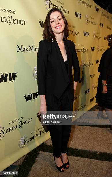 Actress Anne Hathaway arrives at the Women In Film Oscar Nominee Reception hosted by PerrierJouet held at a private residence on Februray 20 2009 in...