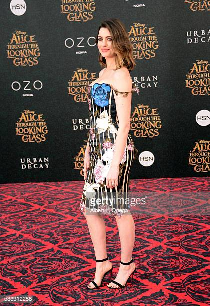 Actress Anne Hathaway arrives for the Premiere Of Disney's 'Alice Through The Looking Glass' held at the El Capitan Theatre on May 23 2016 in...