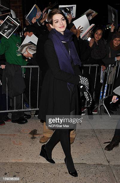 Actress Anne Hathaway as seen on January 7 2013 in New York City