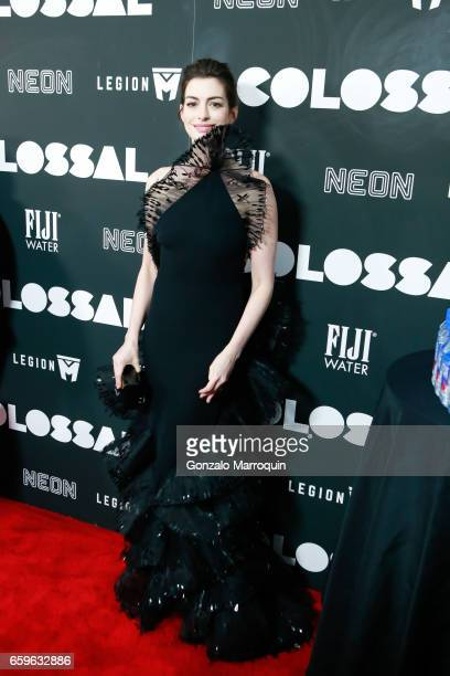 Actress Anne Hathaway attended the 'Colossal' New York Premiere at AMC Lincoln Square Theater on March 28 2017 in New York City
