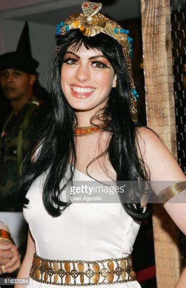 Actress Anne Hathaway attends Heidi Klum's 5th Annual Halloween party at Marquee on October 31 2004 in New York City