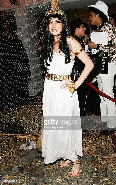 Actress Anne Hathaway attends Heidi Klum's 5th Annual Halloween party at Marquee October 31 2004 in New York City