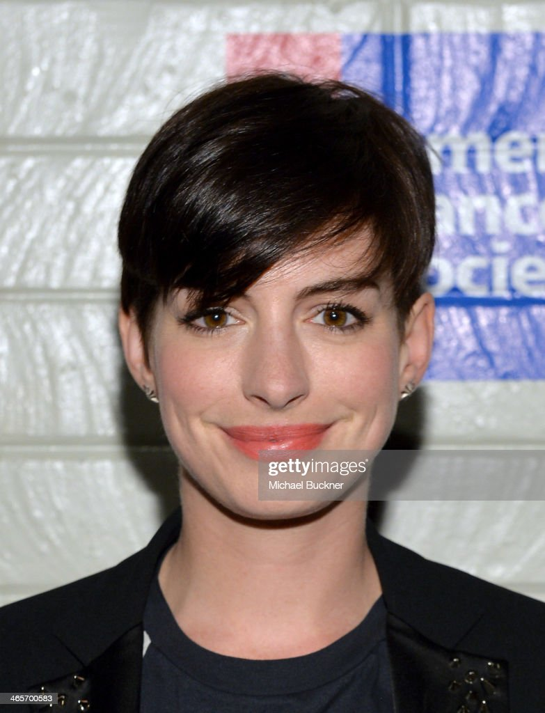Actress Anne Hathaway attends Hollywood Stands Up To Cancer Event with contributors American Cancer Society and Bristol Myers Squibb hosted by Jim Toth and Reese Witherspoon and the Entertainment Industry Foundation on Tuesday, January 28, 2014 in Culver City, California.