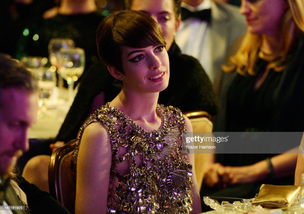 Actress <a gi-track='captionPersonalityLinkClicked' href=/galleries/search?phrase=Anne+Hathaway+-+Actress&family=editorial&specificpeople=11647173 ng-click='$event.stopPropagation()'>Anne Hathaway</a> attends the 15th Annual Costume Designers Guild Awards with presenting sponsor Lacoste at The Beverly Hilton Hotel on February 19, 2013 in Beverly Hills, California.