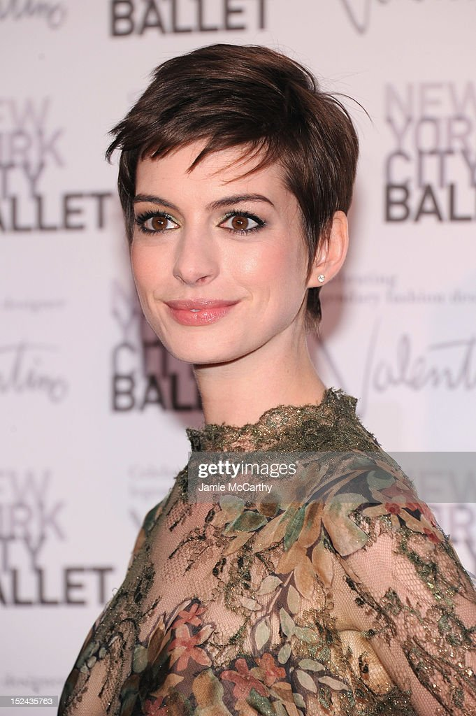 Actress Anne Hathaway attends the 2012 New York City Ballet Fall Gala at the David H. Koch Theater, Lincoln Center on September 20, 2012 in New York City.