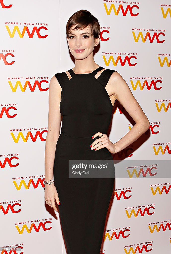 Actress <a gi-track='captionPersonalityLinkClicked' href=/galleries/search?phrase=Anne+Hathaway+-+Actress&family=editorial&specificpeople=11647173 ng-click='$event.stopPropagation()'>Anne Hathaway</a> attends the 2012 Women's Media Awards at Guastavino's on November 13, 2012 in New York City.
