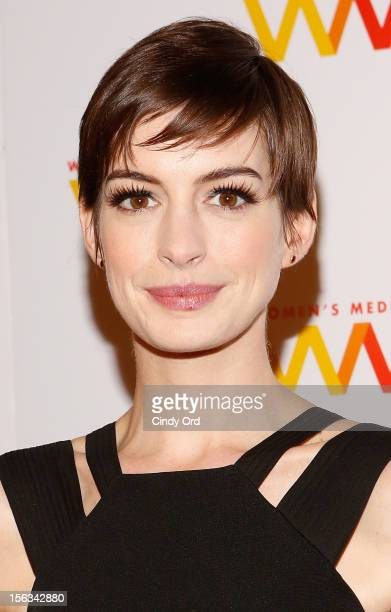 Actress Anne Hathaway attends the 2012 Women's Media Awards at Guastavino's on November 13 2012 in New York City