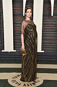 Actress Anne Hathaway attends the 2016 Vanity Fair Oscar Party Hosted By Graydon Carter at the Wallis Annenberg Center for the Performing Arts on...