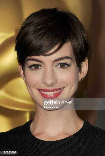 Actress Anne Hathaway attends the 85th Academy Awards Nominations Luncheon at The Beverly Hilton Hotel on February 4 2013 in Beverly Hills California