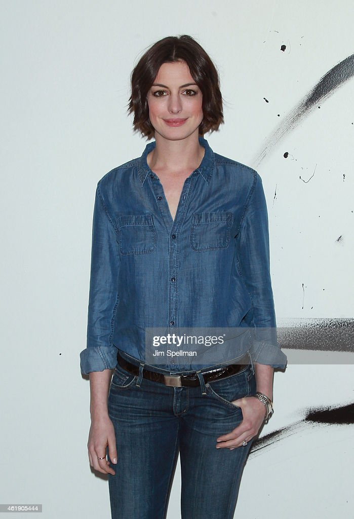 Actress Anne Hathaway attends the AOL Build Speaker Series at AOL Studios In New York on January 21 2015 in New York City