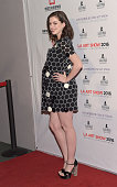 Actress Anne Hathaway attends the LA Art Show And Los Angeles Fine Art Show's 2016 Opening Night Premiere Party Benefiting St Jude Children's...