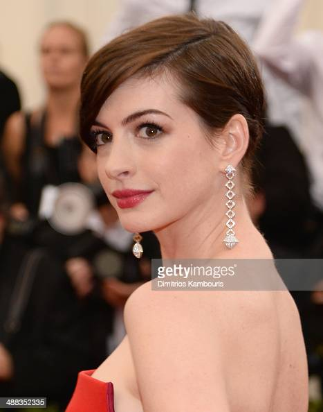 Actress Anne Hathaway attends the 'Charles James Beyond Fashion' Costume Institute Gala at the Metropolitan Museum of Art on May 5 2014 in New York...