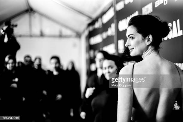 Actress Anne Hathaway attends the 'Colossal' New York Premiere at AMC Lincoln Square Theater on March 28 2017 in New York City