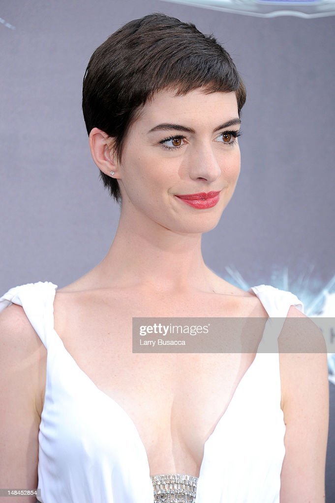 Actress Anne Hathaway attends 'The Dark Knight Rises' premiere at AMC Lincoln Square Theater on July 16, 2012 in New York City.